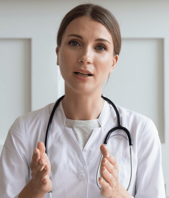 Nurse talking to you